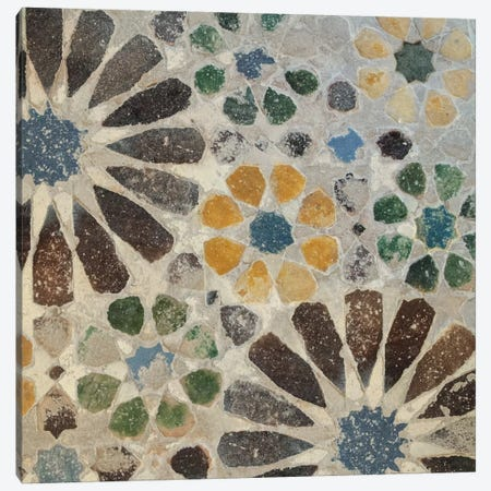 Alhambra Tile II Canvas Print #WAC4551} by Sue Schlabach Canvas Art Print