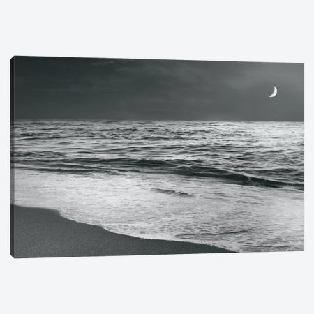 Moonrise Beach Canvas Print #WAC4561} by Sue Schlabach Canvas Wall Art