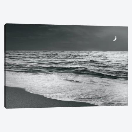 Moonrise Beach Canvas Print #WAC4561} by Sue Schlabach Canvas Wall Art