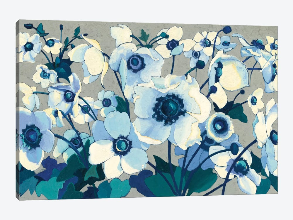 Anemones Japonaises I by Shirley Novak 1-piece Canvas Art Print
