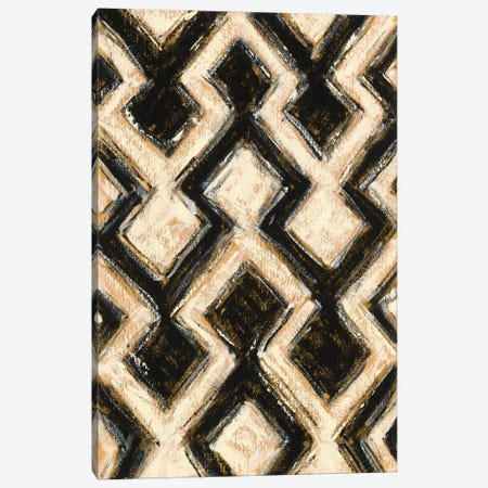 Black And Gold Geometric III Canvas Print #WAC4573} by Shirley Novak Canvas Art Print