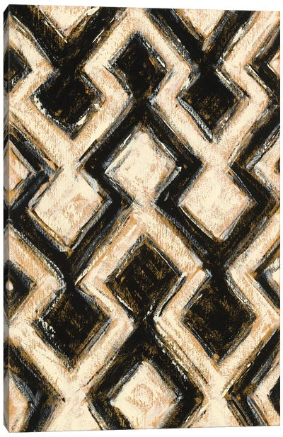Black And Gold Geometric III Canvas Print #WAC4573