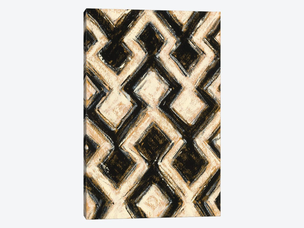 Black And Gold Geometric III by Shirley Novak 1-piece Canvas Wall Art