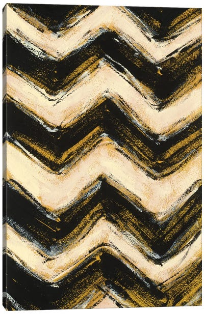 Black And Gold Geometric IV Canvas Print #WAC4574