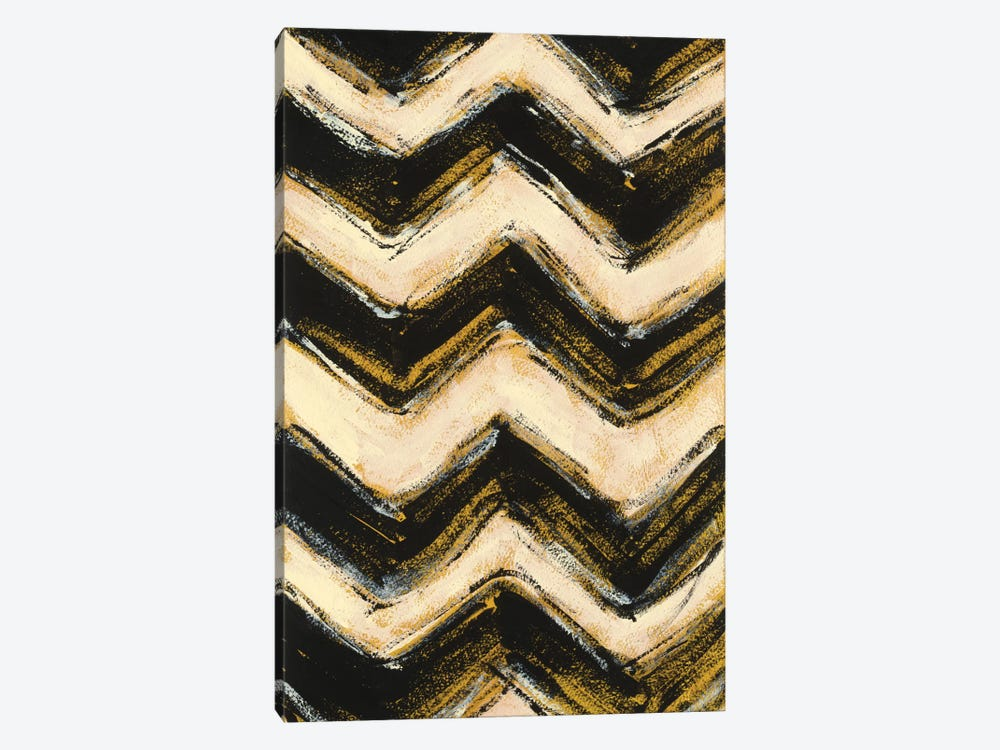 Black And Gold Geometric IV by Shirley Novak 1-piece Art Print