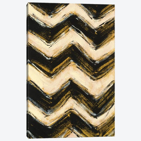 Black And Gold Geometric IV Canvas Print #WAC4574} by Shirley Novak Canvas Artwork