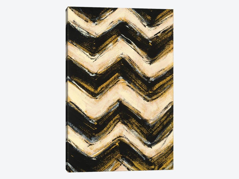 Black And Gold Geometric IV by Shirley Novak 1-piece Art Print