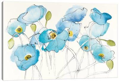 Black Line Poppies III Canvas Art Print