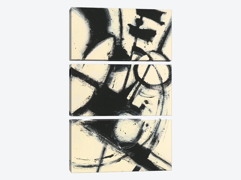 Expression Abstract II by Shirley Novak 3-piece Canvas Art
