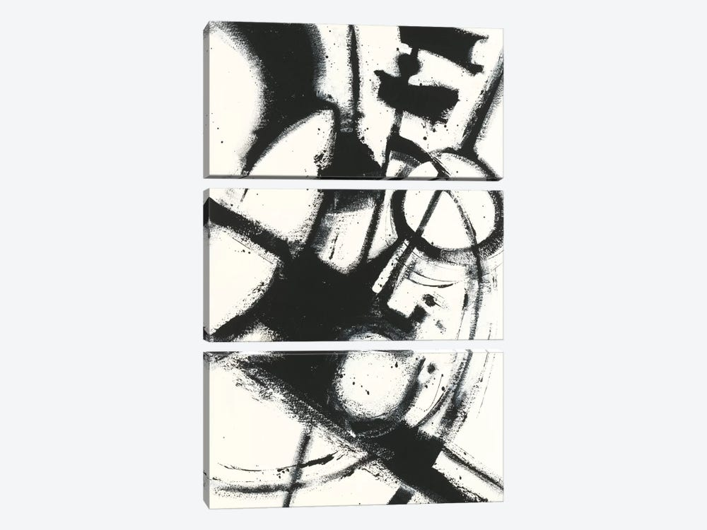 Expression Abstract II.A by Shirley Novak 3-piece Canvas Art Print