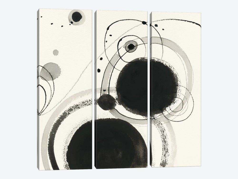 Planetary III by Shirley Novak 3-piece Canvas Art Print