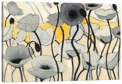 Snow Day Gray Flower Canvas Print #WAC4597