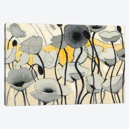 Snow Day Gray Flower 3-Piece Canvas #WAC4597} by Shirley Novak Canvas Art