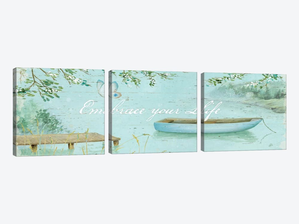Serene Moments V  3-piece Canvas Art Print