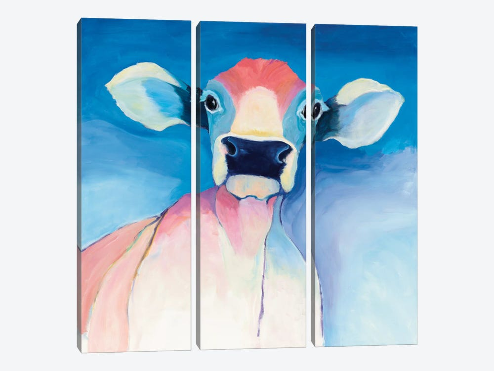 Bella Blue by Avery Tillmon 3-piece Canvas Artwork