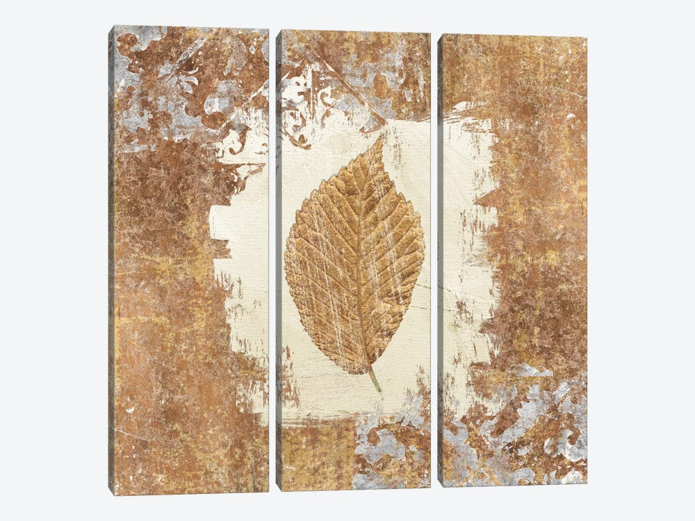 Gilded Leaf II by Avery Tillmon 3-piece Canvas Print