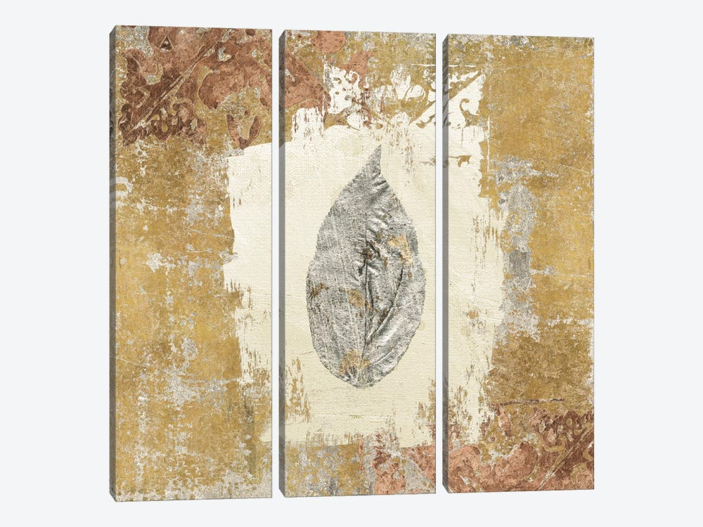 Gilded Leaf III by Avery Tillmon 3-piece Canvas Art