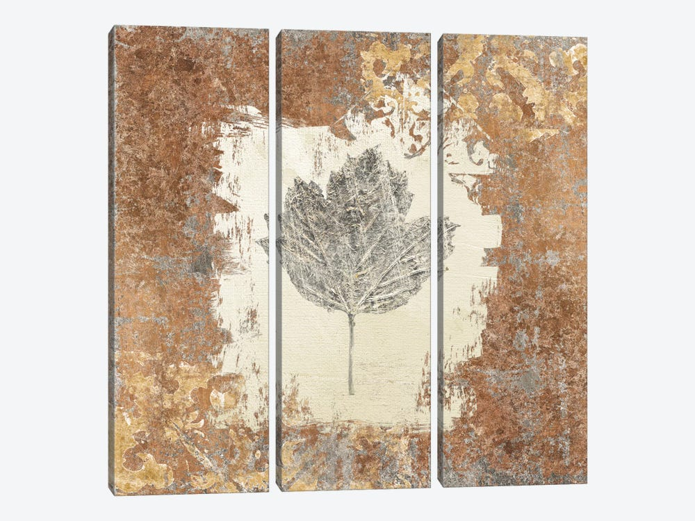 Gilded Leaf V by Avery Tillmon 3-piece Canvas Art Print