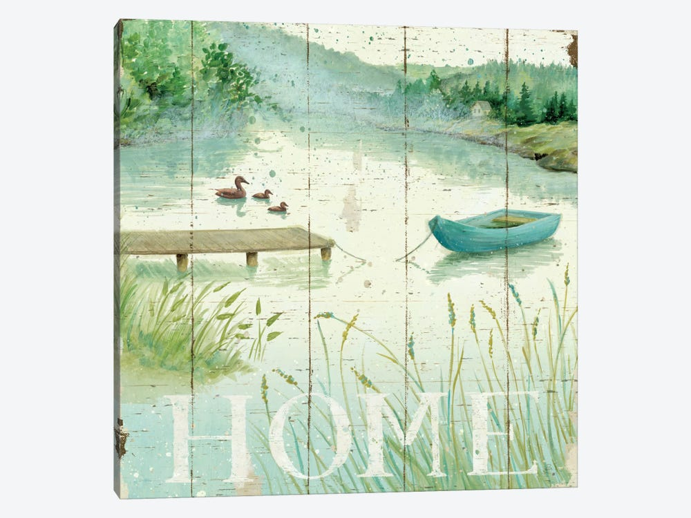 Lakeside I  by Daphne Brissonnet 1-piece Canvas Print