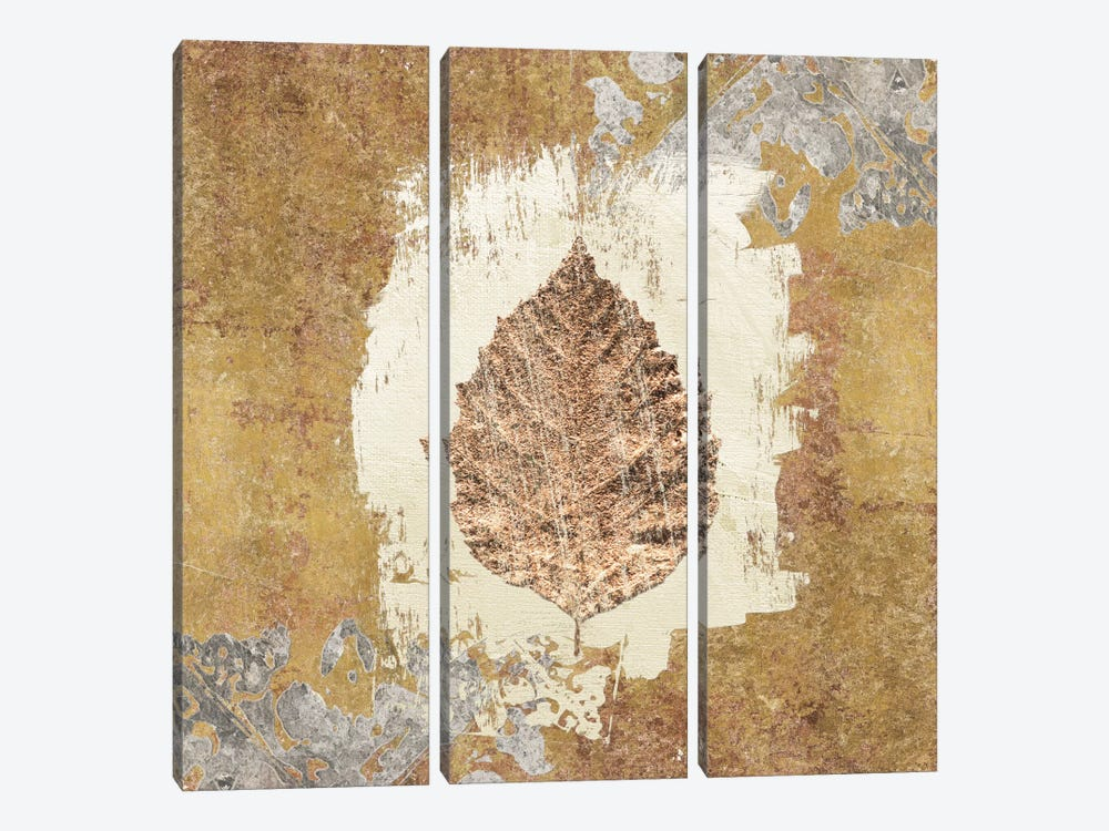 Gilded Leaf VI by Avery Tillmon 3-piece Canvas Print