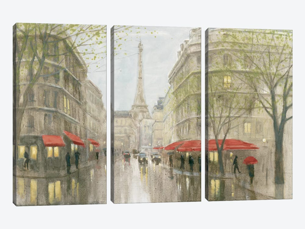 Impression Of Paris by Myles Sullivan 3-piece Canvas Wall Art