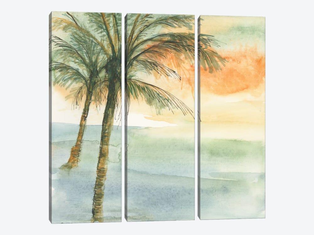Island Sunset I by Chris Paschke 3-piece Canvas Art