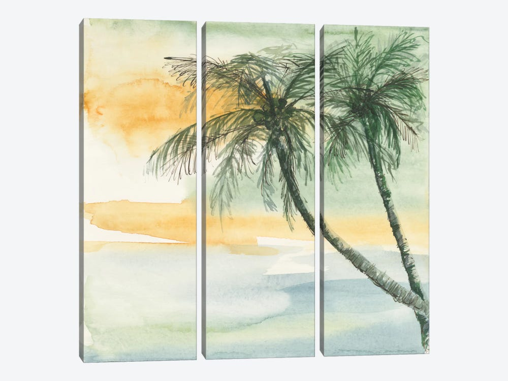 Island Sunset II by Chris Paschke 3-piece Canvas Art Print