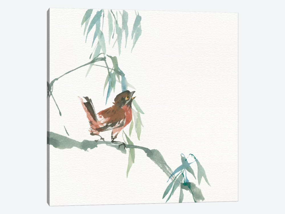 Russet Sparrow 1-piece Canvas Wall Art