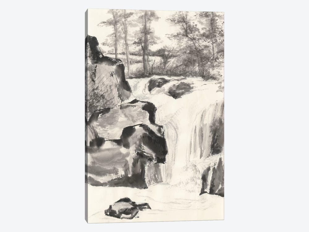 Sumi Waterfall I by Chris Paschke 1-piece Canvas Print