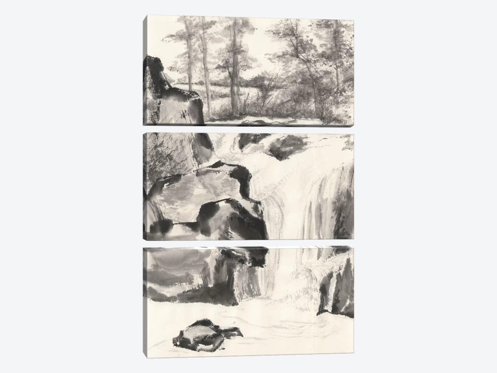Sumi Waterfall I by Chris Paschke 3-piece Art Print
