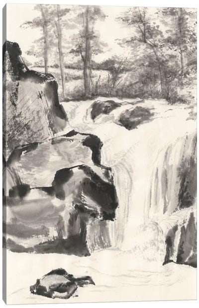 Sumi Waterfall I Canvas Art Print