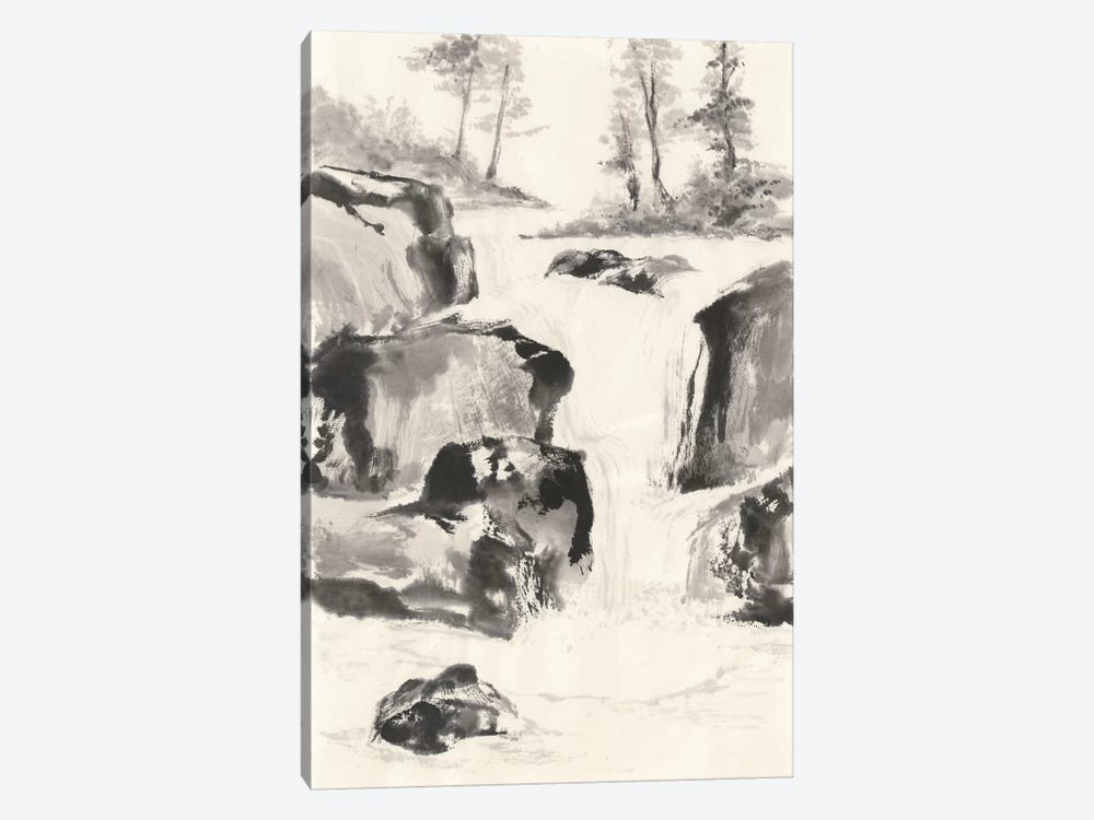 Sumi Waterfall II 1-piece Canvas Art