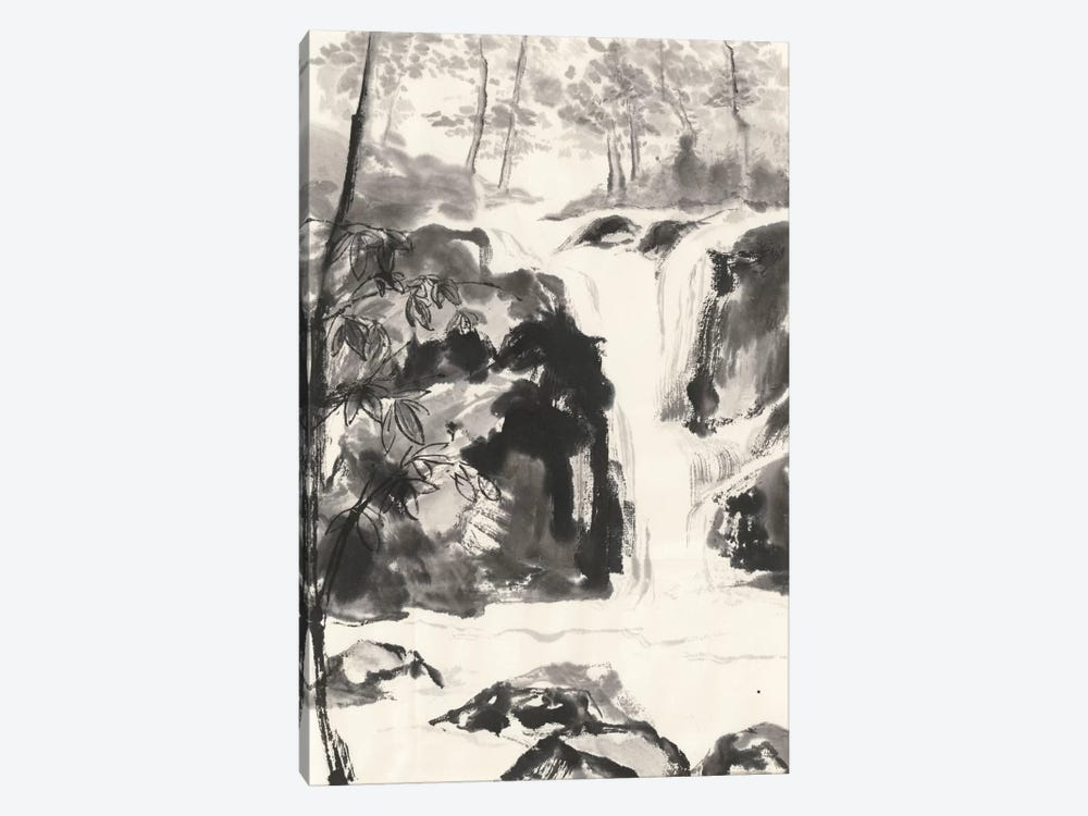 Sumi Waterfall III by Chris Paschke 1-piece Canvas Art Print