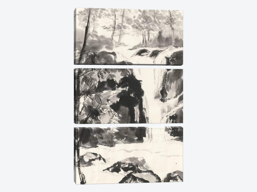 Sumi Waterfall III by Chris Paschke 3-piece Canvas Print