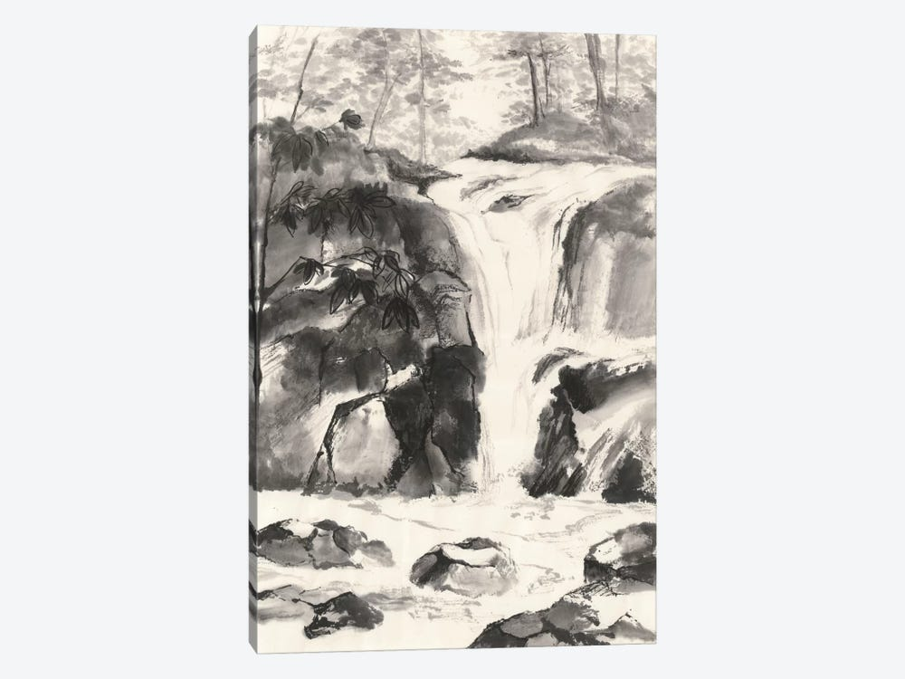 Sumi Waterfall IV by Chris Paschke 1-piece Canvas Artwork