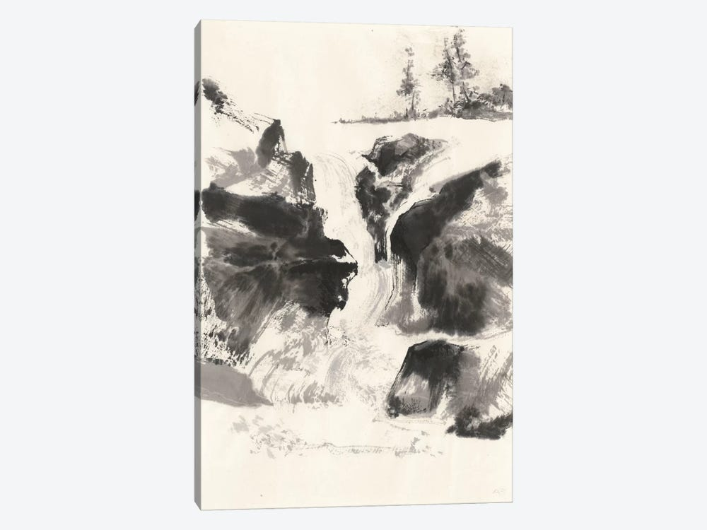 Sumi Waterfall V by Chris Paschke 1-piece Canvas Wall Art