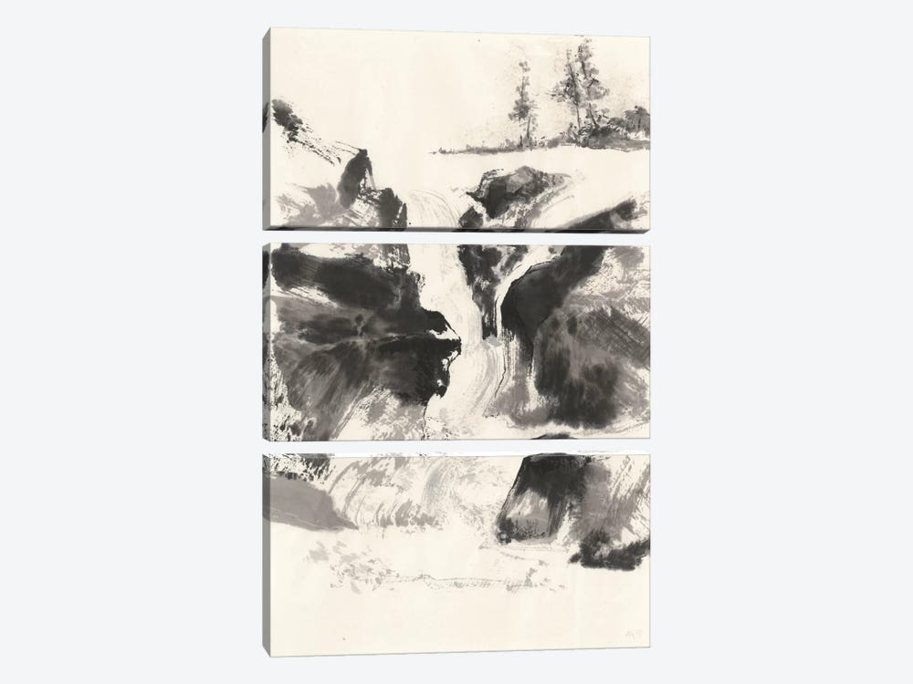 Sumi Waterfall V by Chris Paschke 3-piece Canvas Art