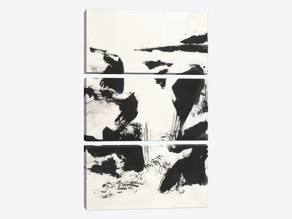 Sumi Waterfall VI 3-piece Art Print