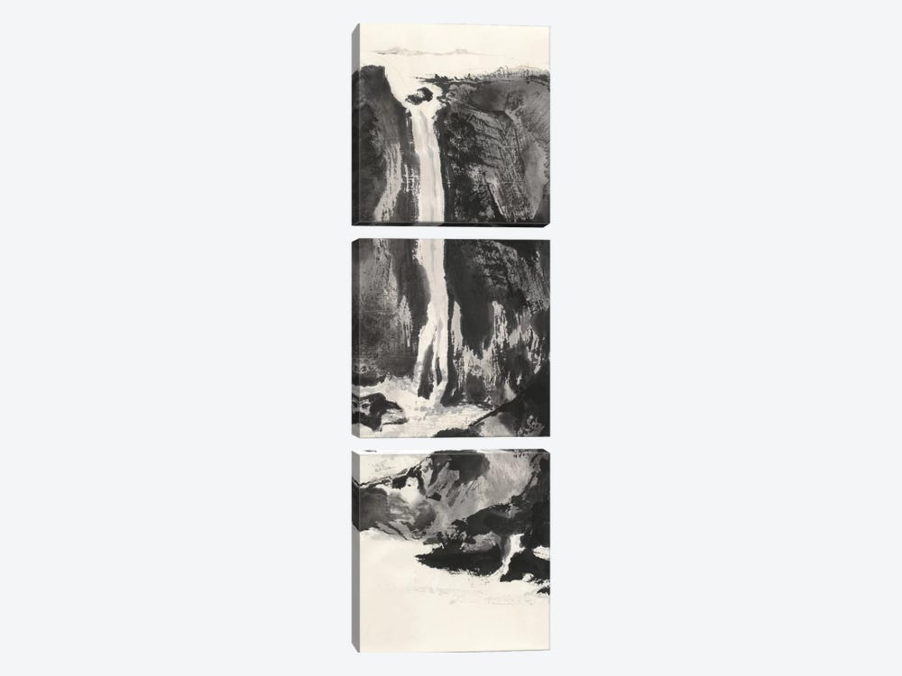 Sumi Waterfall VIew I by Chris Paschke 3-piece Canvas Art