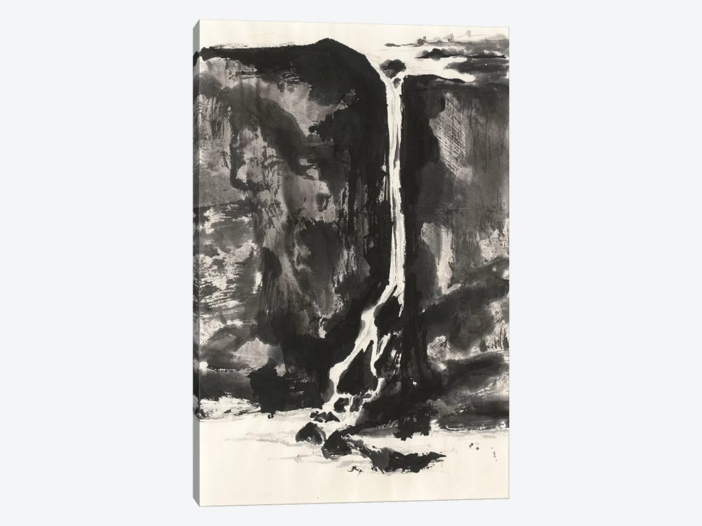 Sumi Waterfall VIew II by Chris Paschke 1-piece Canvas Print