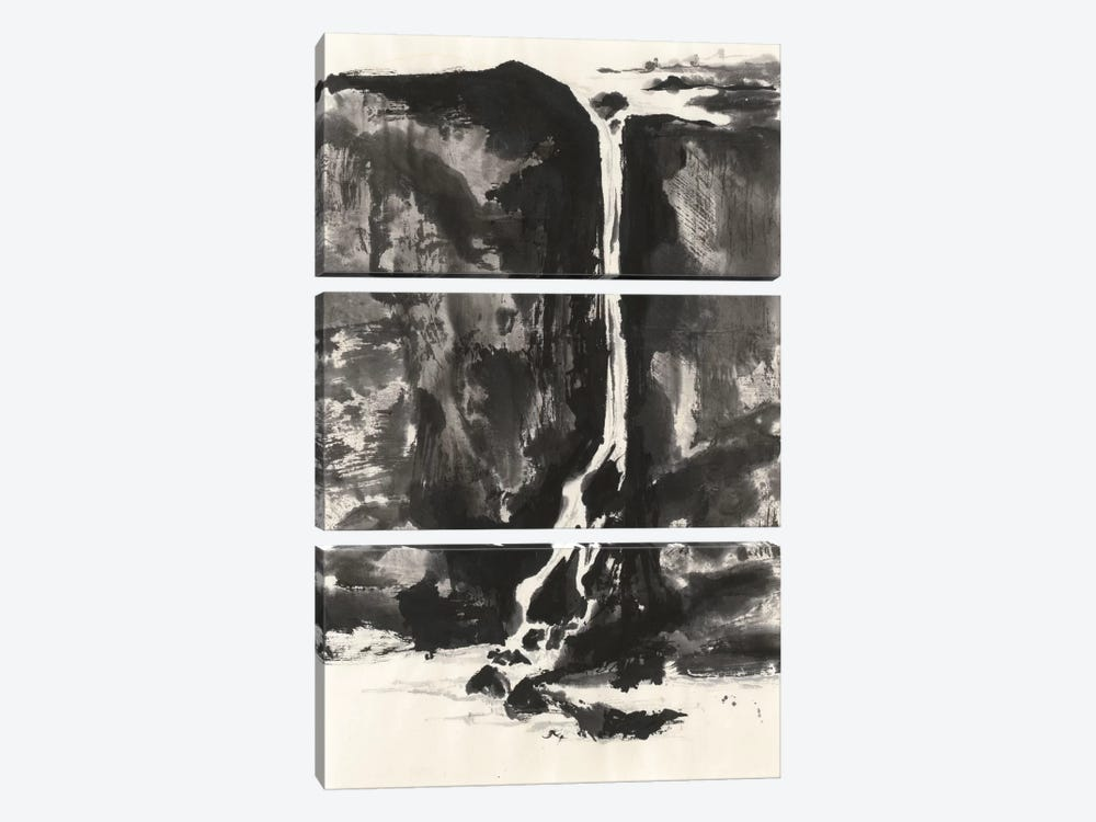 Sumi Waterfall VIew II by Chris Paschke 3-piece Canvas Art Print