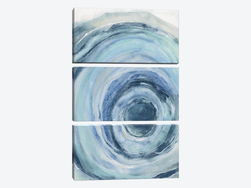 Watercolor Geode IX by Chris Paschke 3-piece Canvas Art Print
