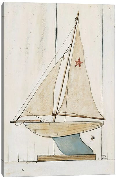 Pond Yacht II Canvas Art Print