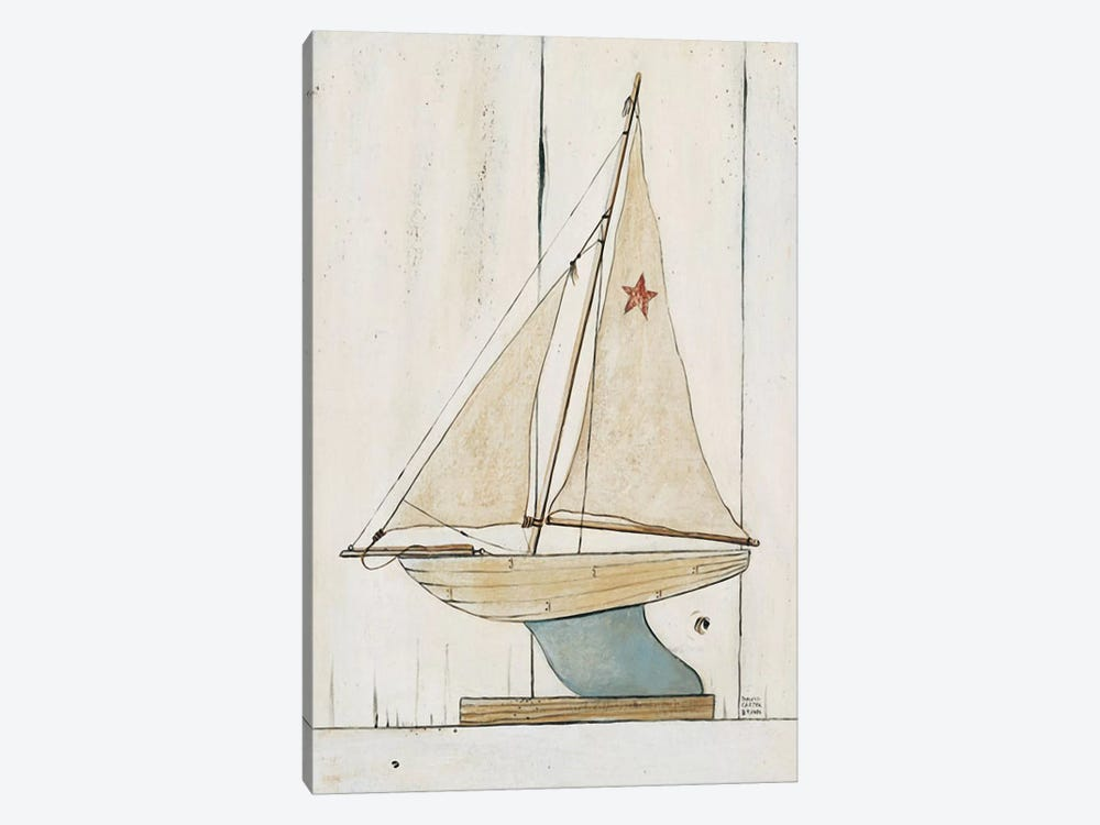 Pond Yacht II by David Carter Brown 1-piece Canvas Print