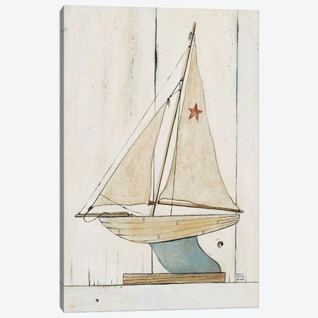 Pond Yacht II Canvas Print #WAC466} by David Carter Brown Canvas Print