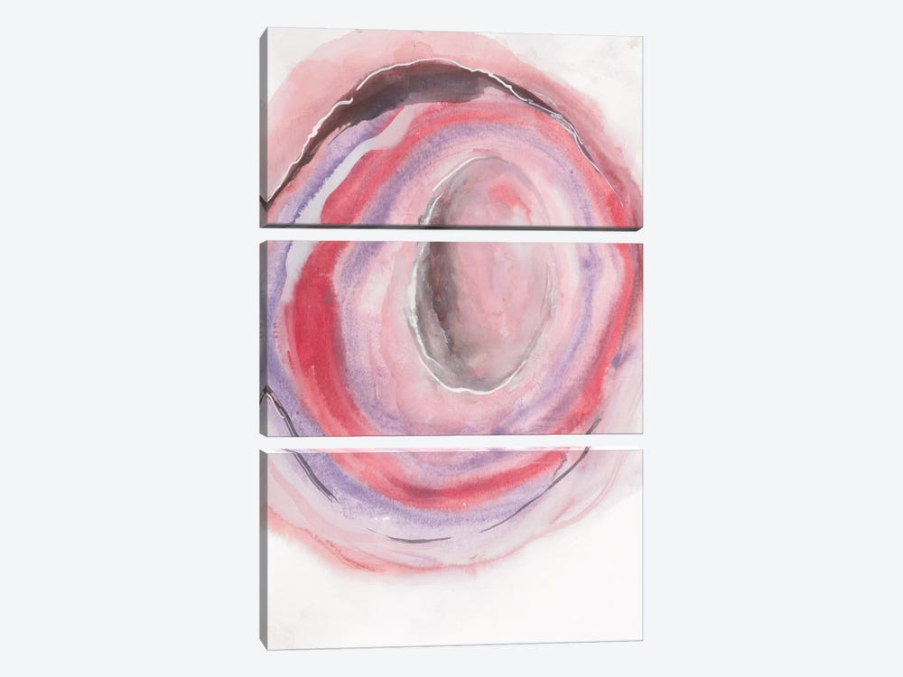 Watercolor Geode VII by Chris Paschke 3-piece Art Print