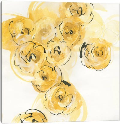 Yellow Roses Anew I Canvas Art Print