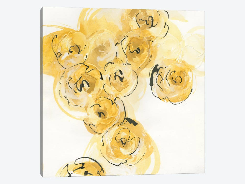 Yellow Roses Anew I by Chris Paschke 1-piece Canvas Art
