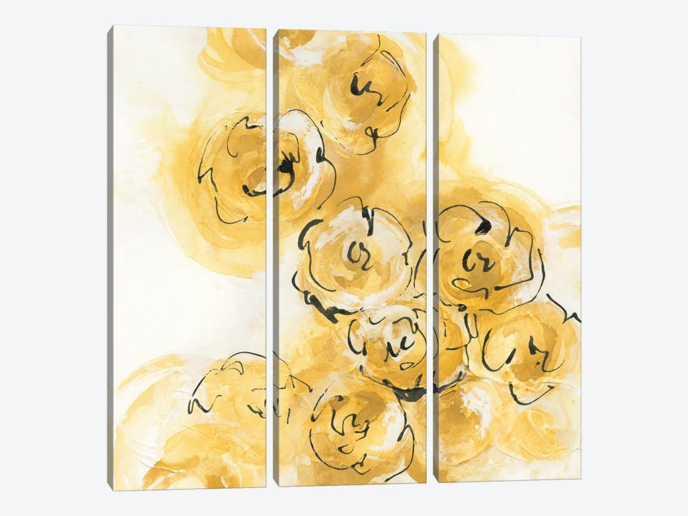 Yellow Roses Anew II by Chris Paschke 3-piece Canvas Art Print