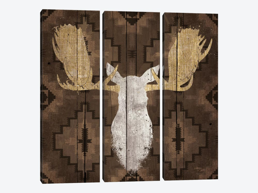 Precious Antlers III by Wellington Studio 3-piece Canvas Artwork